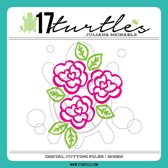 Roses Digital Cut File | Perfect for a variety of craft projects including paper crafting, scrapbooking and more.
