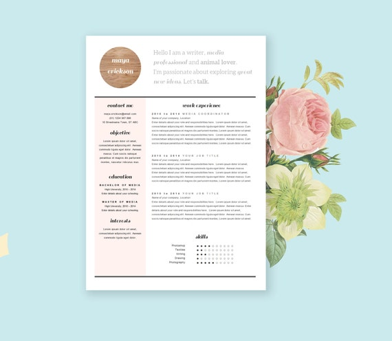 free stylish resume templates images 10