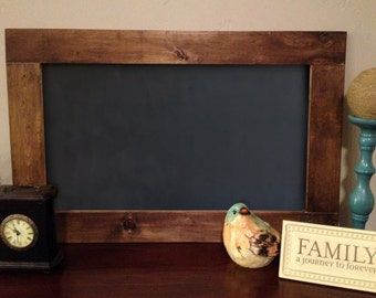 Rustic Wood Framed Chalkboard, Large Wood Framed Chalkboard, Large Rustic Wood Framed Chalkboard 24x36