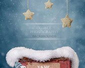 Digital winter background for newborn baby.