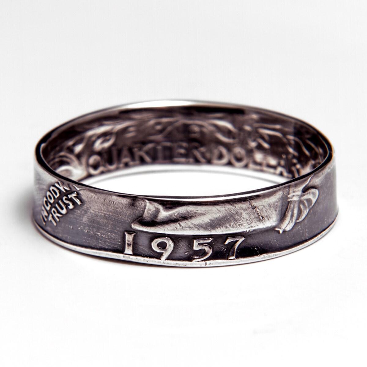 washington quarter 90 silver coin ring