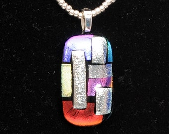 Stained Glass Fused Glass Pendant