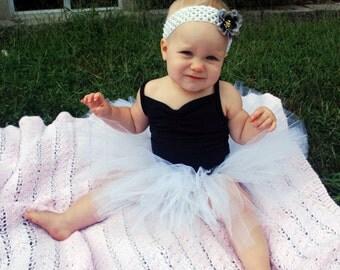 Baby Tutu - White Baby Tutu - Wedding Tutu - Newborn Tutu