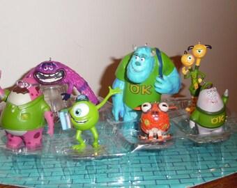 Disney's MONSTERS U Christmas Ornaments set of 7