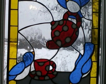 Songbird's Tea Time Stained Glass