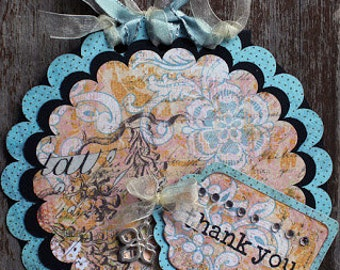 Handmade Round Thank You Card