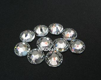 Swarovski Rhinestones for Nails Genuine Swarovski 2058 ss34 Crystal Clear 7.2 mm Flatback Rhinestones Nail Art [24 pcs]