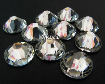 2058 ss48 Swarovski Elements Crystal Clear 11.3 mm Flatback Rhinestones Nail Art Dress Decoration [6 pcs]