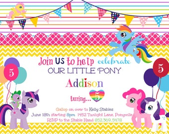 My Little Pony Printable Birthday Party Invitation