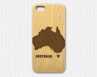 Australia Wood iPhone 5 Case, natural wood iphone 6 plus case, wooden iphone 6 case, travelo iphone 5c case, iphone cover, australia