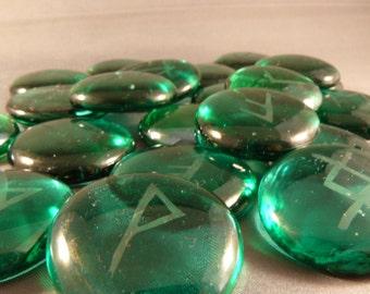 Custum Glass Gem Rune Stones
