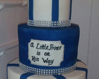 Handmade Edible Fondant A Little Prince cake Topper Set