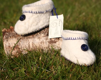 Hand-felted baby shoes