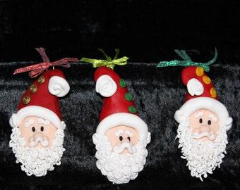 Handcrafted clay santa