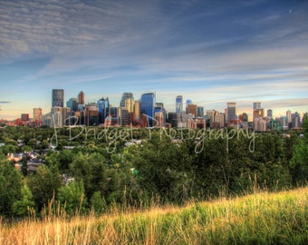 Downtown Calgary HDR Cityscape Photograph: print to order and ready to be framed!