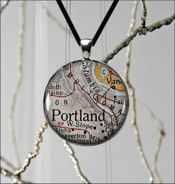 handmade jewelry portland oregon portland oregon state map necklace usa custom jewelry 7040
