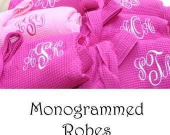 Personalized Bridesmaid Robe Set of 2 , Monogrammed Robe, Waffle Robe, Personalized Bridesmaid Gifts