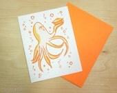 Octopus Valentines Day Love anniversary Wedding Greeting Card