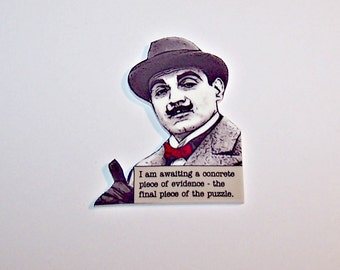 Agatha Christie HERCULE POIROT Mystery Quote Pin
