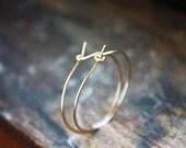 gold hoop earrings,14k gold filled, medium gold hoops, minimalist earrings