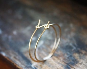 gold hoop earrings,14k gold filled, medium gold hoops, minimalist earrings