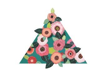 Flower Pyramid art print - archival fine art - various sizes