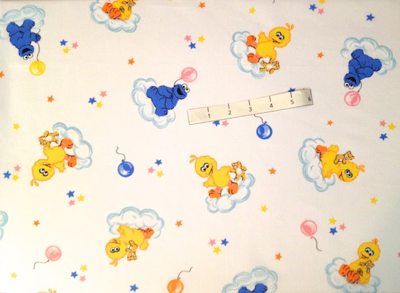 Retired sesame street fabric baby big bird cookie monster for Baby monster fabric