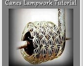 9 Different Canes Lampwork Glass Bead Tutorial - Step by Step instructions Instant Download