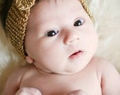 Turban Knot Knitted Headband - knitting PATTERN for newborn, baby, children, teens and adults - pdf format