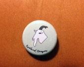Portland, Oregon Goat 1 inch Button Pin