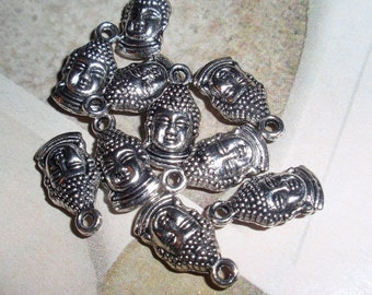 Charms,Buddha,Buddah/Kwan,Kuan Yin Antiqued Silver Small Findings-12,WHOLESALE