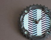 bicycle clock - chevron