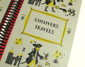Recycled  Hardcover Vintage Book Journal: Gulliver's Travels