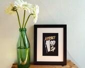 Kisses 1 Dollar 5x7 gold foil stamped print