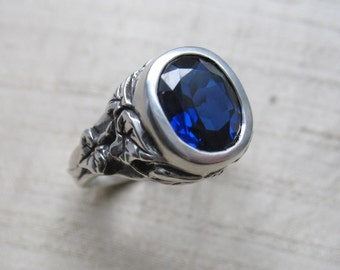 The Ivy Ring in Sapphire and Sterling