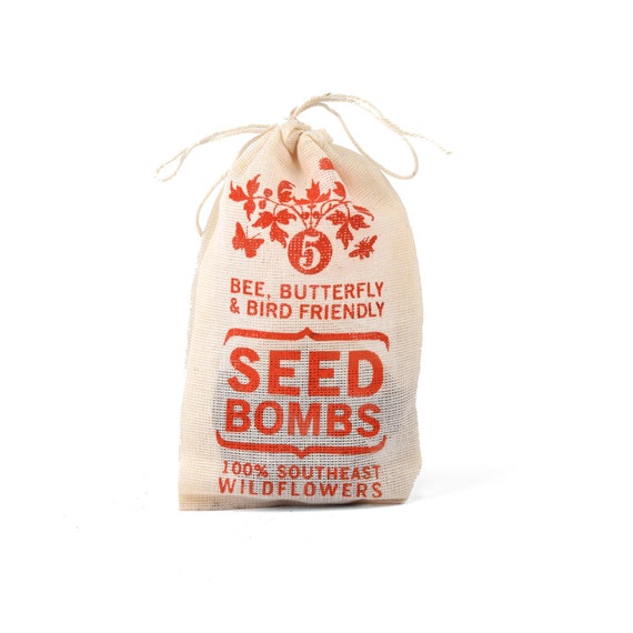 Southeast Seed Bombs - Bird Bee and Butterfly Friendly DIY Guerilla Gardening Seeds Seed Balls