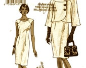Jacket and dress pattern Chic cocktail dress and jacket womens suit  Vogue 8319 sewing pattern SZ 6 to 12 Uncut