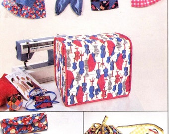 Sewing Organizing accessories Sewing machine cover pin cushions Sewing kits and more sewing pattern 90s McCalls 6903 UNCUT