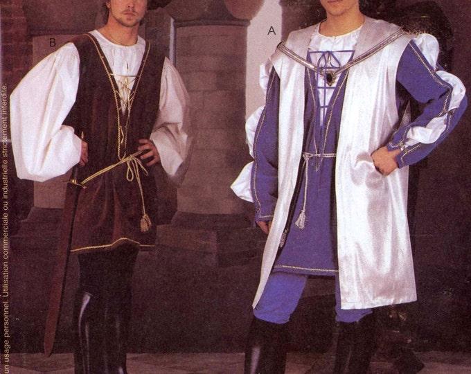 Mens Renaissance costume Medieval sewing pattern McCalls 2802 Theatre pattern Sz LG XLG UNCUT