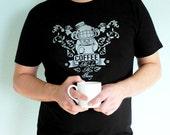 Coffee Shirt, Caffeine Tshirt - Coffee Makes Me Fancy Unisex Men's T-shirt - Funny Tshirt, Coffee Lovers Gift