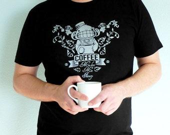 Coffee Tshirt, Caffeine Tshirt, Funny Tee, Coffee Lovers Gift - Coffee Makes Me Fancy Unisex T-shirt