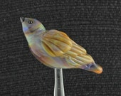 Multi-color Glass Bird, Handmade Bird Bead, Lampwork Bird, Perching Bird