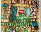 Fabric Jigsaw Puzzle - Christmas Log Cabin Quilt