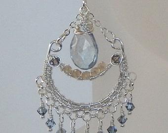 Quartz Earrings Boho Earrings 925 Sterling Silver Dangle Earrings Silver Earrings Boho Earrings Boho Jewelry Bohemian Jewelry Gift For Her