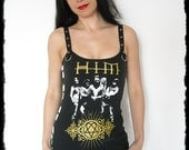 HIM Band shirt ville valo heartagram Tank top heavy metal gothic clothing