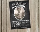 Milestone Birthday Chalkboard Banner Invitation 20th, 30th, 40th, 50th, 60th, 70th, 80th, 90th 5x7 - Print Your Own