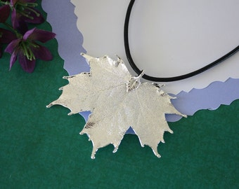 Silver Maple Leaf, Real Leaf, Sugar Maple, Maple Leaf, Sterling SIlver, PL10