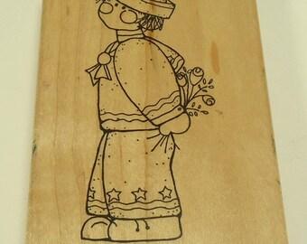 August Jesse Sailor Boy Wood Mounted Rubber Stamp By JRL Design 5183