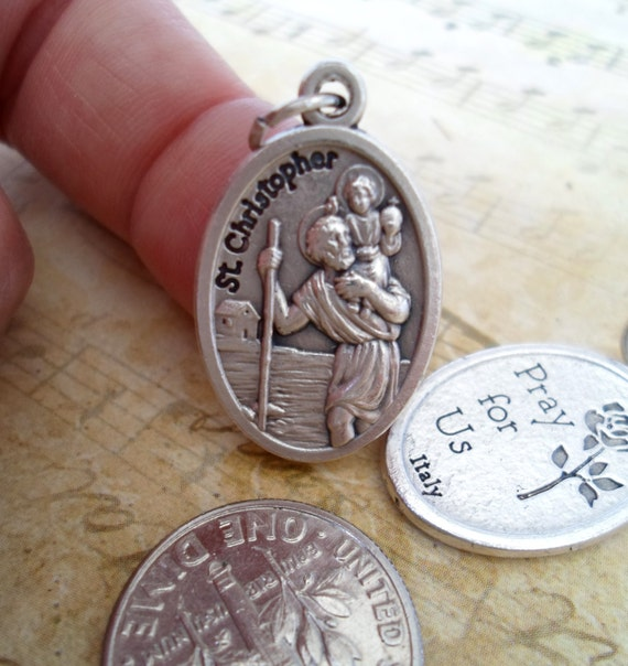 st christopher patron saint holy charm rosary by marysprayers. Black Bedroom Furniture Sets. Home Design Ideas