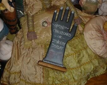 Vintage Glove Mold Hand Mini Chalkboard or Jewelry Display